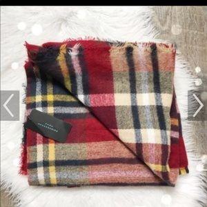 Zara tartan plaid scarf